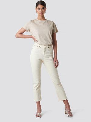 Tina Maria x NA-KD Highwaisted Straight Jeans vit