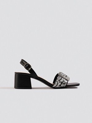 NA-KD Shoes Snake Detail Buckle Sandals svart