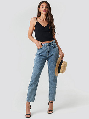 NA-KD Trend Mom Jeans blå