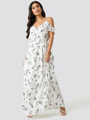 Rut & Circle Flower Long Dress vit