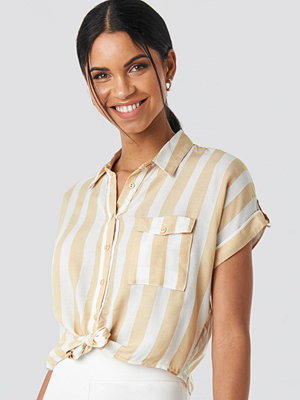 Trendyol Striped Tulum Shirt beige