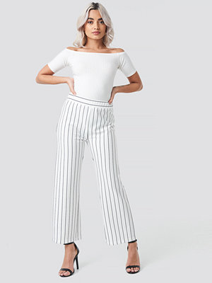 Rut & Circle vita randiga byxor Culotte Stripe Pant vit