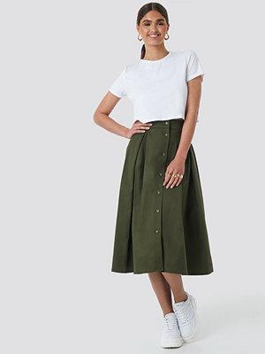 NA-KD Trend Cargo A-line Ankle Skirt grön