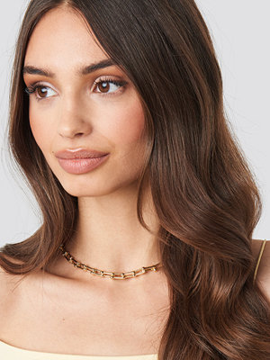 NA-KD Accessories smycke Connected Links Chain Necklace guld