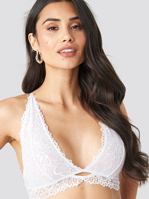 NA-KD Lingerie Cut Out Lace Bralette vit