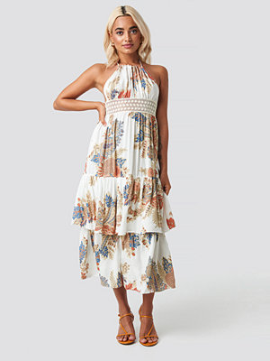 Trendyol Back Trimmed Beach Dress multicolor