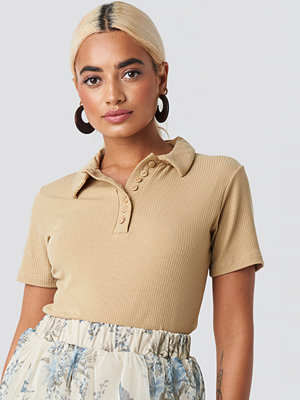Trendyol Button Ripped Top brun