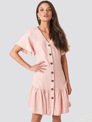 Trendyol Sleeves Flywheel Shirt Dress rosa