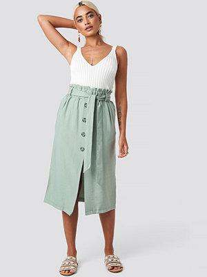 Trendyol Binding Detail Midi Skirt grön