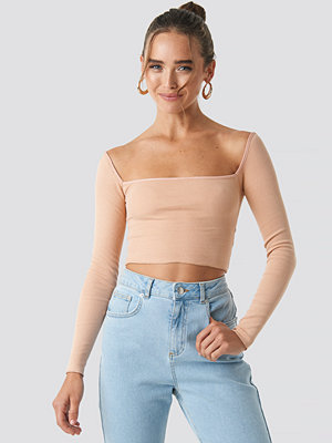 Beyyoglu Square Crop Top nude