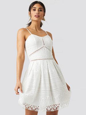 Rut & Circle Lace Strap Dress vit