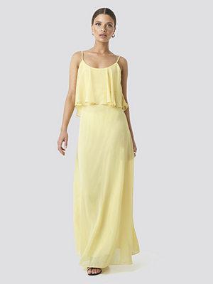 Trendyol Flywheel Long Dress gul