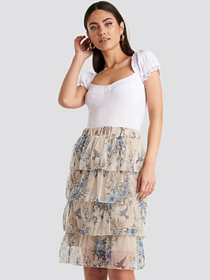 Trendyol Patterned Midi Skirt beige
