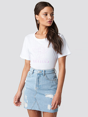 NA-KD Short Destroyed Denim Skirt blå