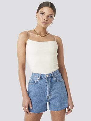NA-KD Trend Denim High Waist Shorts blå