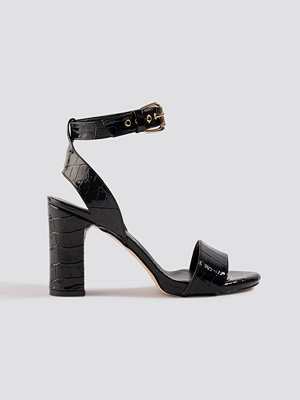 Trendyol Croco High Heels svart