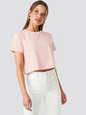 Trendyol Striped Crop Tee rosa