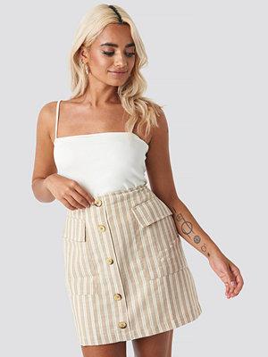 Trendyol Striped Mini Skirt beige