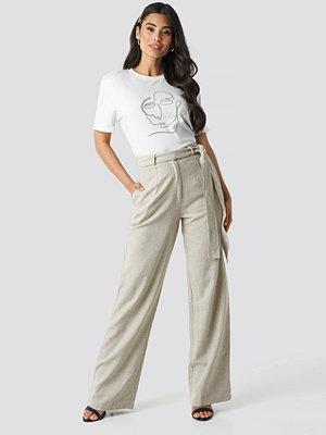Trendyol vita byxor Waistband Paper Trousers beige