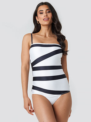 Calvin Klein Bandeau One Piece Swimsuit multicolor
