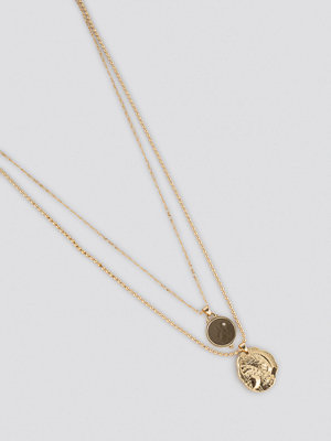 NA-KD Accessories smycke Double Vintage Coin Necklace guld