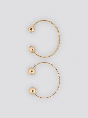 NA-KD Accessories smycke Big Globe Bangle Set guld