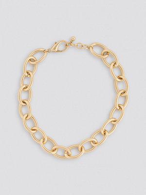 NA-KD Accessories smycke Matte Oversize Chain Necklace guld