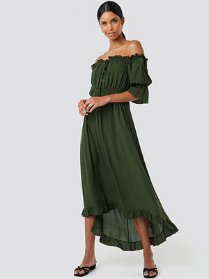 Trendyol Ruffle Detail Maxi Dress grön