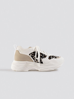 NA-KD Shoes Leopard Chunky Trainers vit