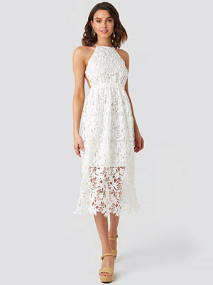NA-KD Boho Crochet Strap Back Dress vit