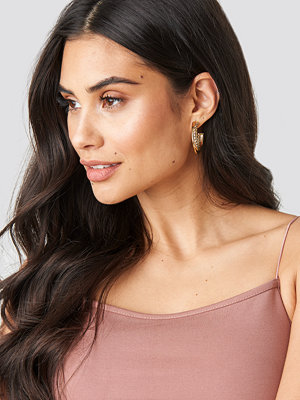 NA-KD Accessories smycke Straight And Twisted Hoop Earrings guld