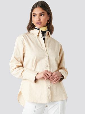 NA-KD Classic Oversized Shirt beige