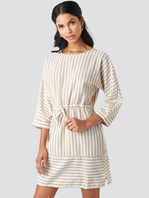 Trendyol Striped Binding Mini Dress beige