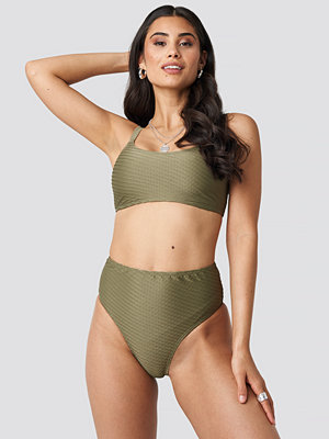 NA-KD Swimwear Structured High Waist Bikini Panty grön