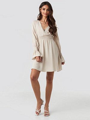 Trendyol Elastic Waist LS Dress beige