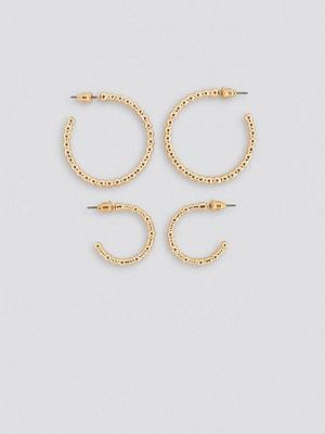 NA-KD Accessories smycke Fine Globe Hoop Earring (Double Pack) guld