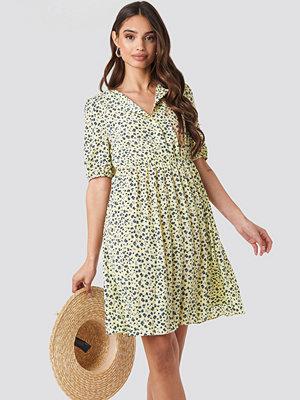 NA-KD Boho Short Sleeve Pleated Skirt Dress multicolor