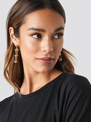 NA-KD Accessories smycke Circular Chain Drop Earrings guld