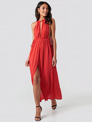 Trendyol Rope Suspender Maxi Dress röd