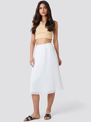 NA-KD Pleated Midi Skirt vit