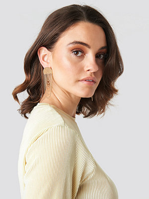 NA-KD Accessories smycke Layered Chain Earrings guld