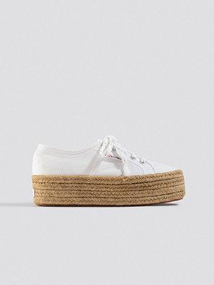 Superga x NA-KD Braided Flatform Sneaker vit