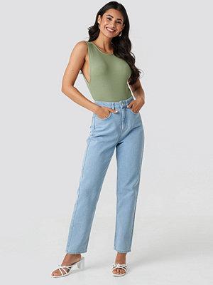 NA-KD Mid Rise Vintage Fit Jeans blå