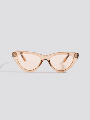 Solglasögon - NA-KD Accessories Rounded Cat Eye Sunglasses brun