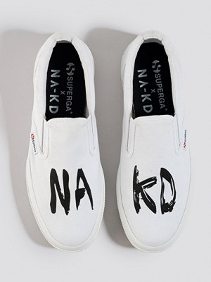 Superga x NA-KD Branded Slip-On Sneaker vit