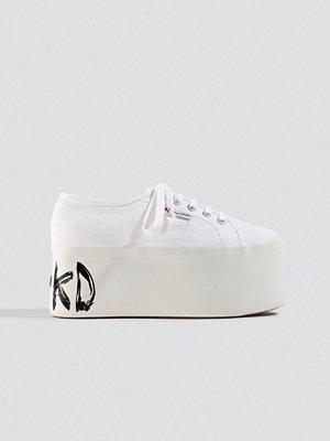 Superga x NA-KD Branded Platform Sneaker vit