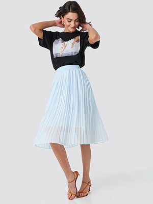 NA-KD Midi Pleated Skirt blå