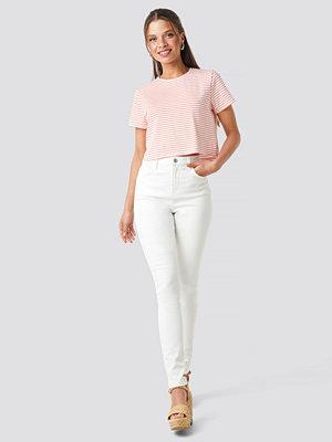 NA-KD High Waist Skinny Jeans vit