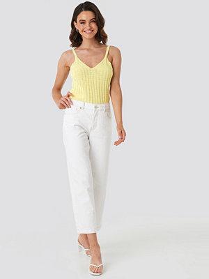 Mango Culotte Jeans vit