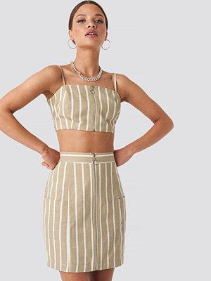 Nicci Hernestig x NA-KD Zipped Skirt beige